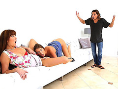 MILF Bianca Breeze and Teen Alexis Adams in a hot threesome sex