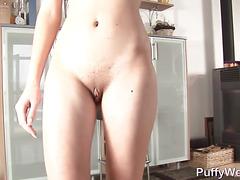 Amateur girlfriend filming solo