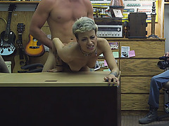 Horny cutie chick getting fucked for cash