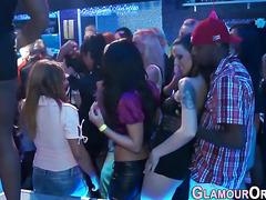 Glam tongued babes fucked