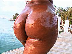 Fat ass Ebony Gizelle XXX