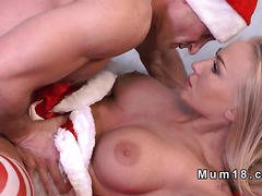 Huge tittied Milf Santa fucks