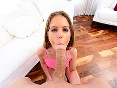 Lovely horny Slut Stacey gets pounded hard on a couch