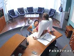 Patient sucks and fucks doctors cock