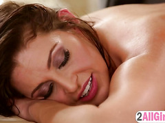 Jade Nile explores a sexy client Gracie Glam pussy and ass