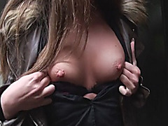 Angel Blade flashes tits and screwed in exchange for money