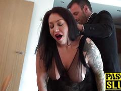 Chubby cock loving slut Nikki enjoys getting fucked hard