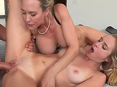 Stepmom Brandi Love horny threesome sex
