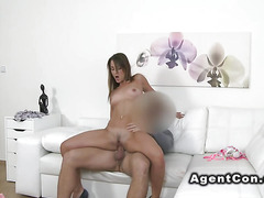 Huge ass slim babe fucks in casting
