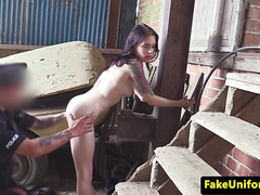 Cuffed amateur analfucked by dodgy copper
