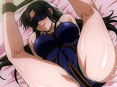 Tied up hentai babe