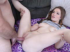 Sweet babe Monica Rise spreading her legs