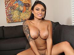 Lovely hot babe Natalia fucks a hard dick