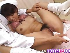 Misato Kuninaka nurse is fucked with medical tools and vibrators