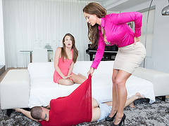 MILF Brandi Love shows how it  step daughter and bf how to fuck