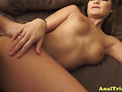 Bum slammed newbie gf enjoys it hard