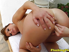 Fist fetish Jeny Babe fist fucks Olga Cabaeva
