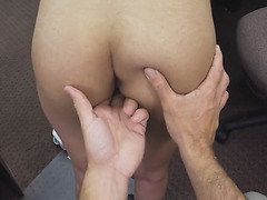 Whipping dick while banging her pussy