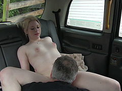 Gorgeous blondie slut gains cash after sex and receives a hot cum
