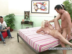 Mandy Sweet gets her big tits loaded with cum