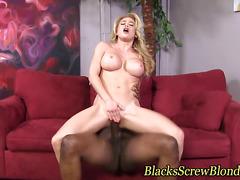 Black cock fucking whore