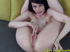 Casting couch x babe fingered and sucks