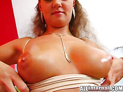 All Internal Sexy chick gets butt fucked and the cum oozes out