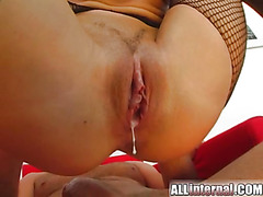 All Internal Massive cumloads drip after this pussy destruction