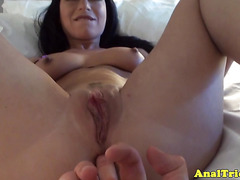 Analplay session for naughty amateur girlfriend