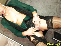 Lesbian piss party with glam eurobabes
