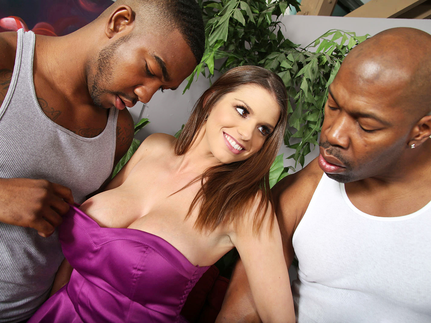 A dozen bbcs get sucked off by brooklyn chase 9