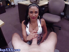 Latina amateur sucks cock