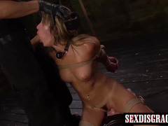 Perfect blonde babe Marina enjoy in bondage sex games