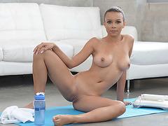 Home yoga with Raven Redmond turns into a hot wild sex bzhotporns.com