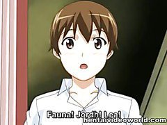 Cruel master roughly fucking anime slave