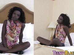 Tiny black teen facial