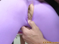 Busty CFNM hotties assfucked during group fun