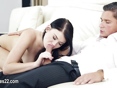 divinely horny couple copulating hard