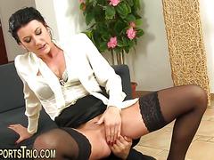 Stockings milf perkys pee