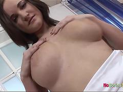 Cyntia Drough big tits solo
