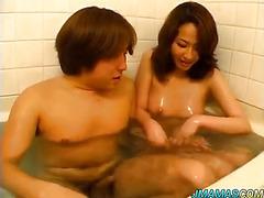 Yoshima pretty Asian milf enjoys sexy bath time