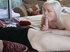Cleo stumbles in and got her juicy pussy fucked right on the couch