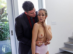 Lovely and small Cassidy Klein gets fucked by her instructor